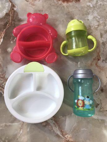 Тарелки, поилки, посуда детская