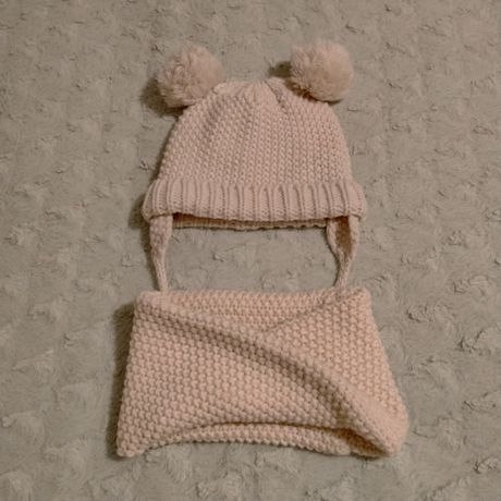 Komplet zimowy dla dziewczynki, czapka, komin Zara