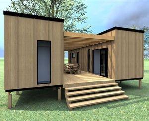 Casas de madeira, Bungalows, casas nas árvores e decks.