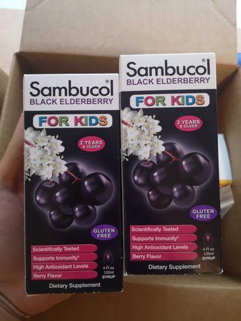 Sambucol, детский сироп бузина с витамином С и цинком, 120 мл, iherb