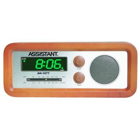 Сетевые часы с будильником и радиоприемником.АН-1077.