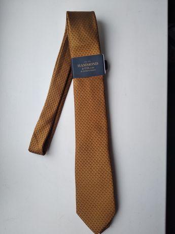Брендовый шелковый галстук Hammond & Go Patrick Grant Состояние новое