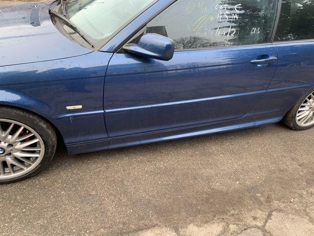 Drzwi prawe lewe bmw e46 coupe cabrio topasblau w kolor