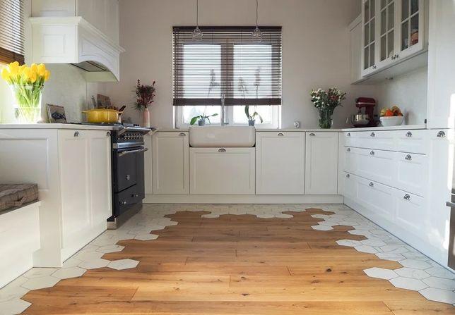 Montaż składanie mebli kuchni IKEA, układanie paneli, beton, cegła