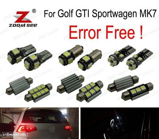 KIT COMPLETO DE 12 LÂMPADAS LED INTERIOR PARA VW GOLF 7 MK7 MKVII GOLF GTI SPORTWAGEN (2014 +)