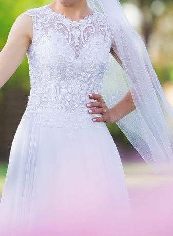 suknia ślubna 36/38 + welon