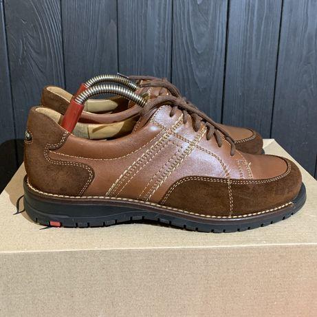 Кожаные кроссовки ботинки Lloyd Germany 42 размер Lacoste ecco clarks