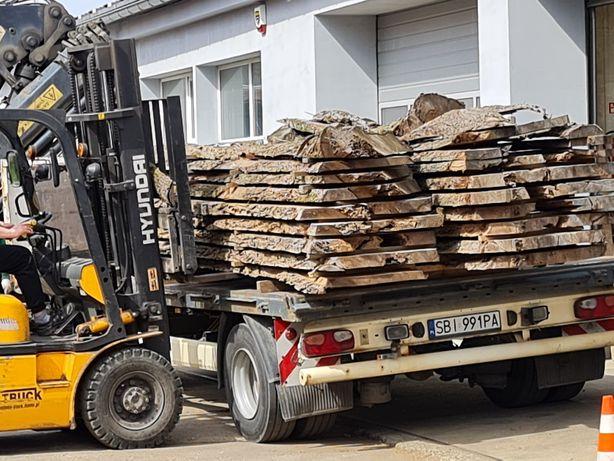 Orzech drzewo pień live edge wood monolit