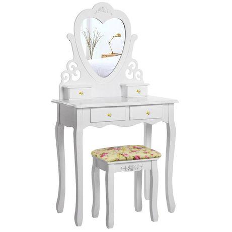 Столик косметический трюмо туалетный столик с пуфом
