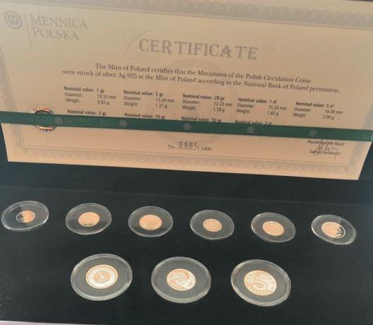 Miniatury monet powszechnego obiegu