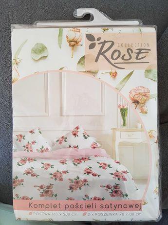 pościel satynowa Faro Rose 160x200
