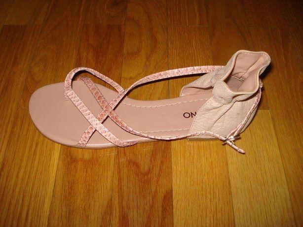 Sandálias de pele rosa VIA UNO nº38/39 NOVAS