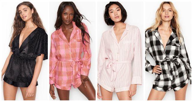 Женский ромпер Victorias Secret домашний комбинезон пижама