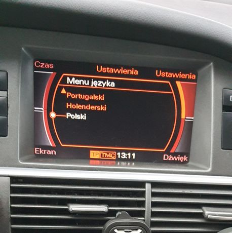 polskie menu audi mmi2g rnse aktualizacja map audi bmw professional