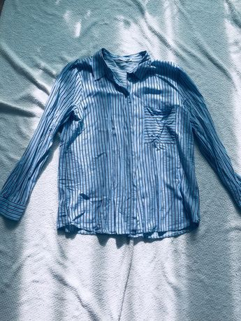 Pull&Bear niebieska koszula w pasy 42 XL