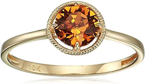Złoty pierścionek Swarovski Crystal 10K