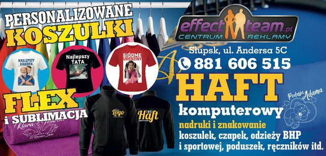 Koszulki Czapki Ręczniki znakowanie Druk Haft Odzież BHP Reklama