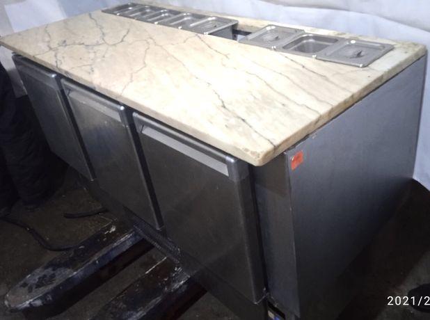 Стол холодильный для пиццы с гранитом италия