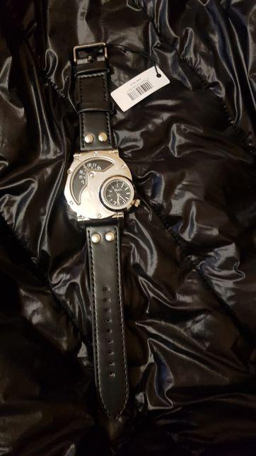 Oulm мужские наручные бизнес часы,с несколькими часовыми поясами.