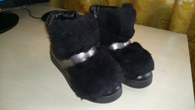 Зимнее ботинки, сапоги кожаные