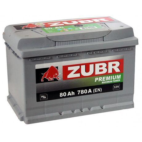 Аккумулятор автомобильный ZUBR Premium 6СТ-80Ач R+ 780A Белорусь