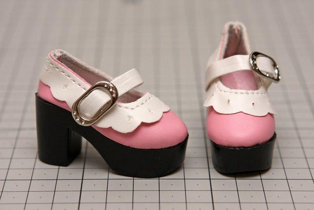 Buty dla lalki BJD Minifee 1/4 różowo białe