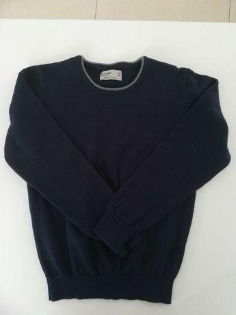 Sweter elegancki granatowy