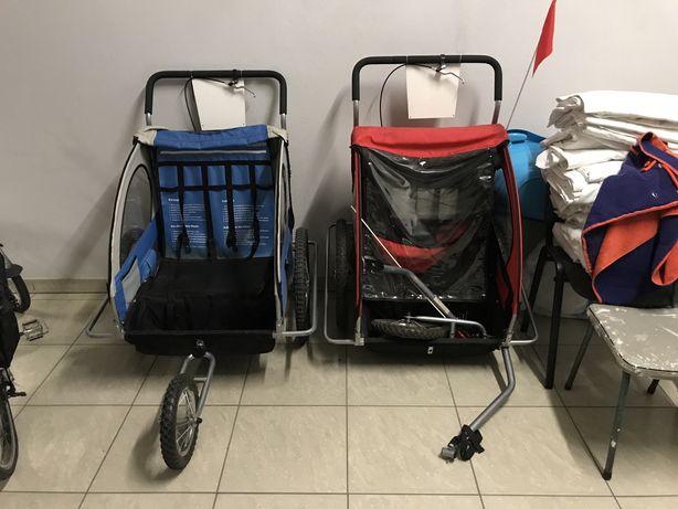 2 x przyczepka rowerowa 2 osobowa z opcją wózka