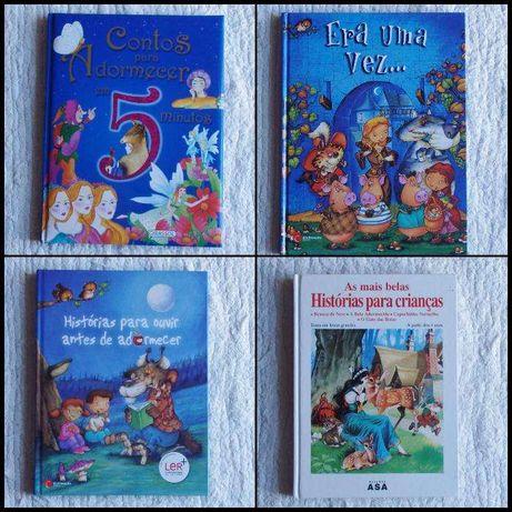 4 livros Era uma vez - Histórias p/ adormecer