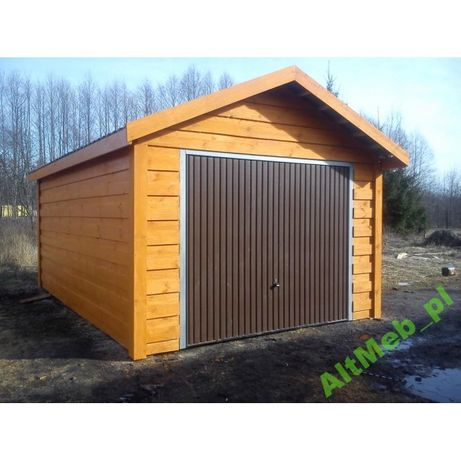 Garaż drewniany szkieletowy 3,5x5,5 na zgłoszenie