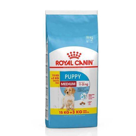 Royal Canin Medium Puppy 15kg + 5kg - PORTES GRÁTIS