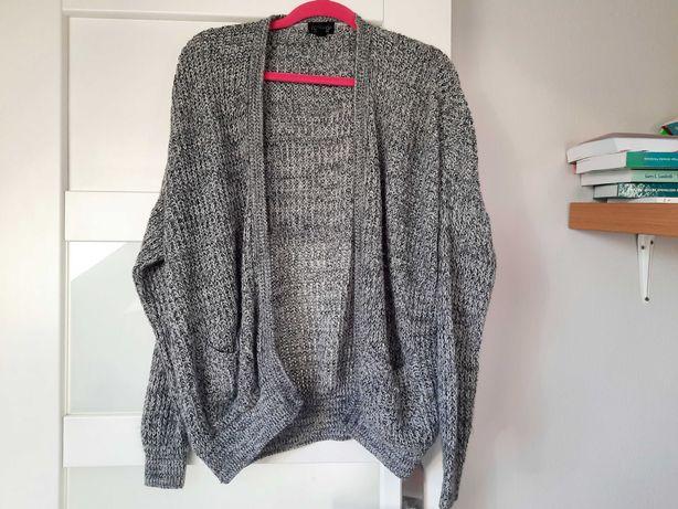 Szary sweter TOPSHOP / XS S M 34 36 38 /gru ge/ baggy