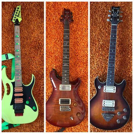 coleção de guitarras PRS Ibanez Fender Gibson Jackson Washburn