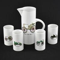 Conjunto de Jarro e copos Porcelana Artibus, Arte Decô