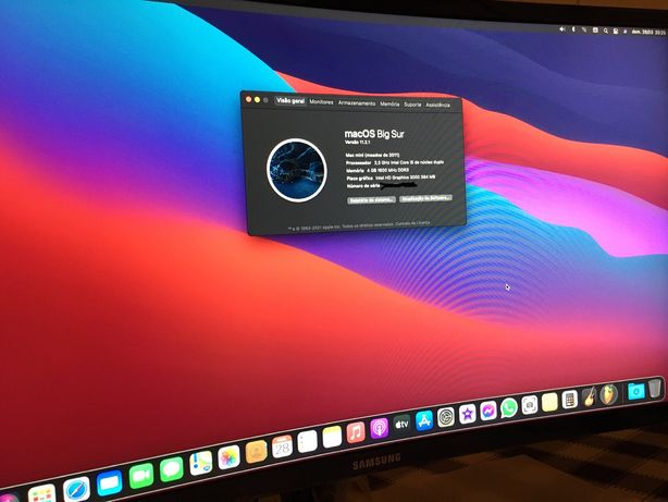 Mac mini Como Novo , 8gb RAM, Intel Core i5, macOS Big Sur
