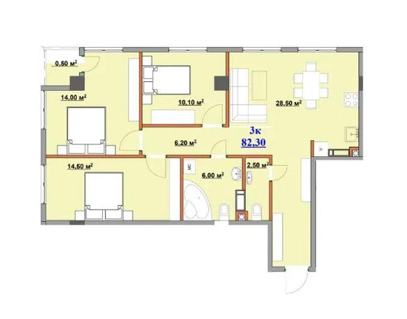 Продаж 3к квартири з шикарним плануванням у новобудові