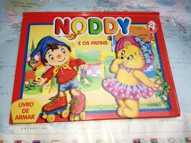 """Livro de armar """"Noddy e os Patins"""""""