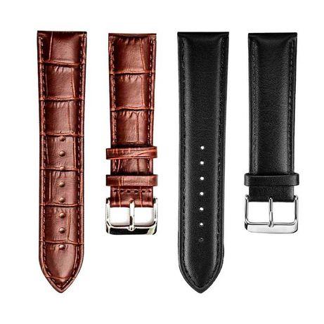 Braceletes pele sintética universal para Smartwatch 20mm
