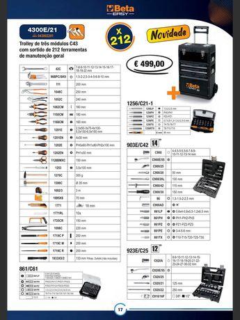 Trolley 221 ferramentas para manutenção Industrial BETA 4300E/21