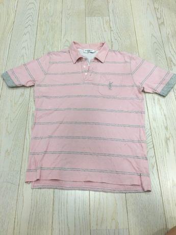 Koszulka Polo YSL różowa męska
