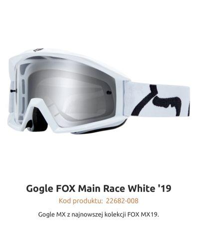 Gogle CrossFOXMain Race White