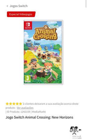 Jogo Animal Crossing para Nintendo Switch