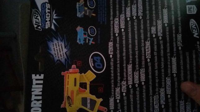 Nerf Micro Shots fortnite i zestaw strzalek .