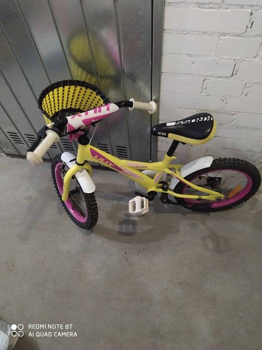 Rower Kross Lilly 16 '' Żółty różowy dla dzieci 3-6 lat Gdańsk - image 1