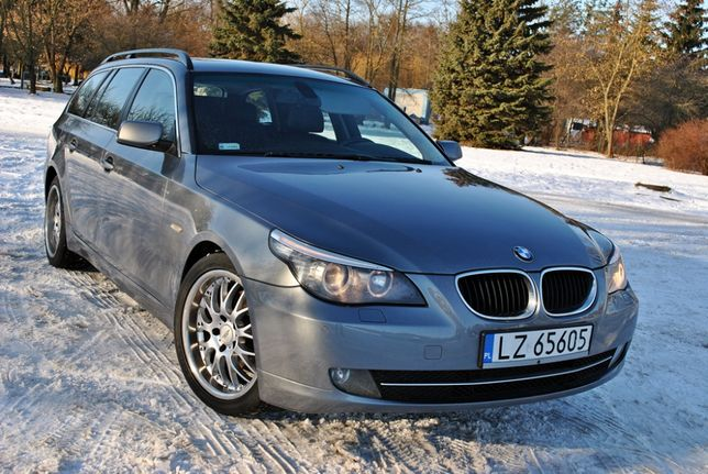 BMW e61 520D 2008r 164km NAVI skóra Klima Hak ALU18 ZAMIANA