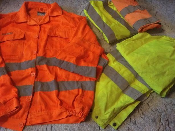 Zestaw ubrań roboczych - odblaskowe r52-54