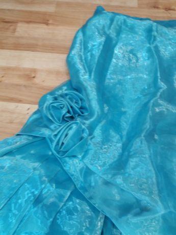 (46) śliczna spódnica długa 36 38