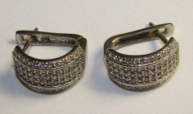 TANIO ! kolczyki srebro rodowane pr.925 -Firma Szafir- wzór S68