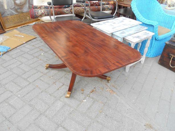 stara ława/stół na mosiężnych kółkach
