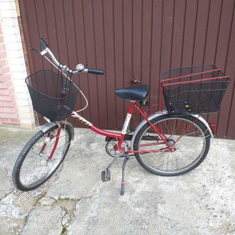 Rower składak, jak nowy, koła 24 cale.